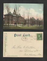 1909 CORTLAND NY STATE NORMAL SCHOOL UDB UNDIVIDED BACK POSTCARD