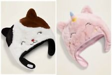 Old Navy Baby Toddler Girl Faux Fur Cat Trapper Hat SM, MED or LG Choose NWT