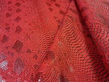 Cocodrilo Cuero Rojo H46 imitación de cuero con textura de tela de tapicería Vestido