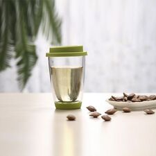 UNIHOM - MEMORY 350ml Handmade Double Wall Glass Tea Coffee Travel Mug Tumbler