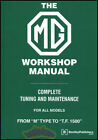 MG SHOP MANUAL TC TD TF SERVICE REPAIR BOOK BLOWER BENTLEY