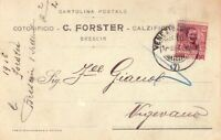 REGNO D'ITALIA - BRESCIA - RARA CARTOLINA POSTALE COMMERCIALE - 1906