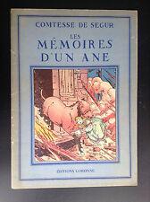 Comtesse de Segur Les mémoires d'un ane Le Rallic Gordinne