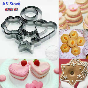 cookie cutter set stainless steel cutters baking cookies 12 pcs 4 shapes 3 sizes