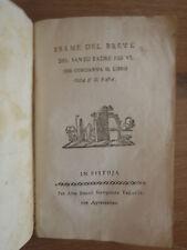 Settecentina- Esame del breve Padre Pio VI che condanna il libro cosa è il Papa