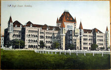 1908 Bombay/Mumbai, India Postcard: The High Court Building