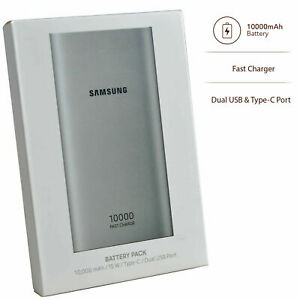 Samsung 10,00mAh Dual USB Type- C Battery Charger Fast Portable Power Bank