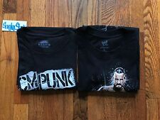 CM Punk WWE Authentic Wear Basic Chicago Fist GTS Shirt Size Large 2 Pack