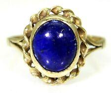 Pretty Lapis Lazuli 9ct Yellow Gold ring size N ~ 6 3/4