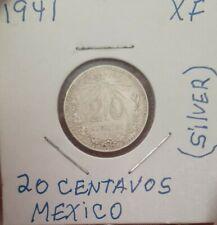 1941 Mexico 20 Centavos Silver