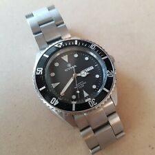 Cyma Le Locle Swiss vintage dive watch 40mm / New battery. Functional