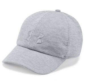 Under Armour Twisted Renegade Womens Running Cap Grey Twist 1306297 035 NEW