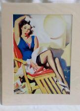 Pin Up Girl Art-Gil Elvgren Jupes AHOY SAILOR CHEESECAKE Imprimé Rétro Nautique