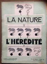 revue LA NATURE n° 2821 - 15 nov 1929 - L'Hérédité - Le theatre Pigalle