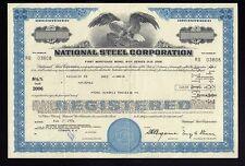 National Steel Corp Mishawaka Indiana (now Us Steel ) Usd 100,000 Bond 1976