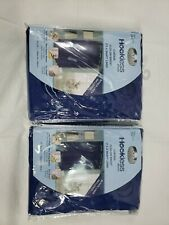 Hookless Blue Fabric Shower Curtain w Peva Liner 71� x 74� Blue-Lot Of 2