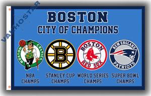 Boston city of Champions team Memorable flag 90x150cm 3x5ft best banner 100D P
