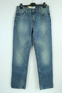 Mustang BNWT Bleu Jeans Taille Moyenne Droit Jambe Hommes Jean Taille W32 L34