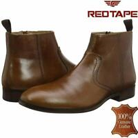 Mens New Leather Zip Up Formal Smart Chelsea Dealer Work Ankle Boots Shoes Size