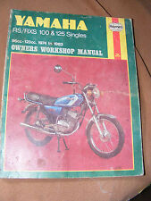 YAMAHA RS/RXS 100 & 125 SINGLES   MANUAL 1974 TO 83    (ALL MODELS LISTED)