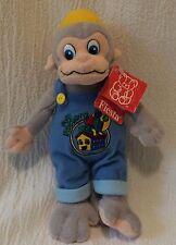 """9"""" Fiesta Plush Fun Factory Monkey Bean Bag Monkey Wrench Item L04551"""
