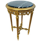Antique Accent Table Plant Stand Italian Design Marble top Gold Gilt wood