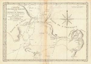 Entrée de Norton & Détroit de Bhering. Bering Strait Norton Sound BONNE 1788 map