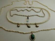 lotto x collane madreperla in argento  lot x silver necklace MOP ref D2