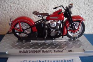 "Harley Davidson 1948 Model Fl Bubbles Panhead"" Red -topmodell 1:24"