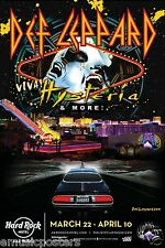 "DEF LEPPARD ""VIVA HYSTERIA! -HARD ROCK HOTEL"" 2013 LAS VEGAS CONCERT TOUR POSTER"