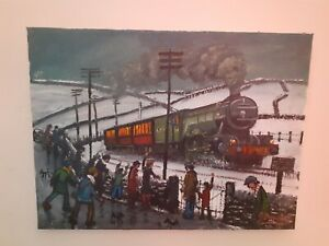 James downie paintings signed original / oil painting / steam train painting