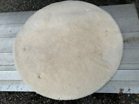 India hand knotted 100% wool round rug off white lot BRE200920K