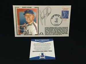 RUSTY STAUB METS REFLECTIONS SIGNED 1986 FIRST DAY COVER CACHET BAS T69584