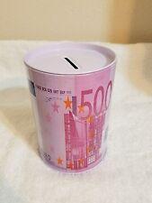 500 EURO TIN CAN COIN MONEY BANK (Large) **Cute ~ Great Gift ** Piggy Bank