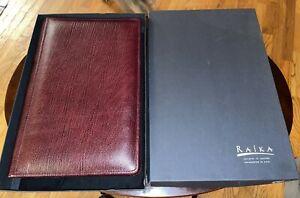 "NEW RAIKA GENUINE TOP GRAIN COWHIDE BROWN LEATHER PHOTO ALBUM (HOLDS 180 4""X6"")"