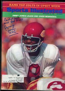 JIMMY JONES USC TROJANS SPORTS ILLUSTRATED signed autographed