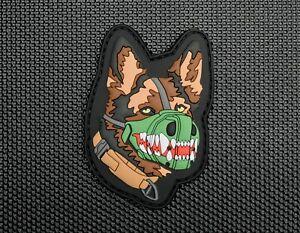 3D PVC German Shepherd Dog Morale Patch K9 GSD MWD Military Working Dog Handler