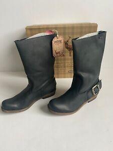 MTNG Originals Bill Black Leather Mid Calf Size 6.5 US 37 EU Boots New Box Spain