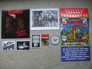 Ramones promo stuff coaster postcards stickers cover slicks 2-sided large photo
