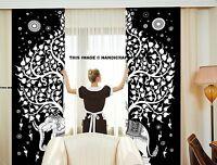 Indian Curtains Hippie Mandala Tapestry Wall Hanging Bohemian Valances Decor Set
