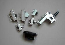 7 (teils) verschiedene Mikroschalter, vielpolig,