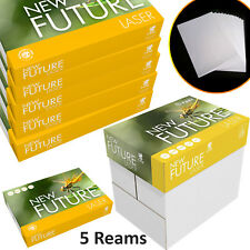 A4 Printer Paper 80GSM White Laser Copy Copier 2500 Sheets 5 Reams Box Office UK
