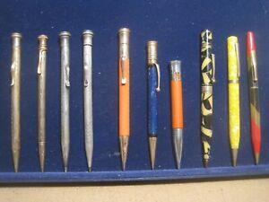 10 Vintage Mechanical Pencils Cross Wahl Eagle Parker Estate Lot Sterling GF PL
