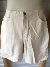 Hunt Club Women's Chino Walking Bermuda Shorts Light Beige Size 16 New
