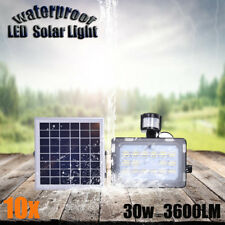 30w LED Solar Lights Security Sensor Motion Detection Garden Flood Street 12v