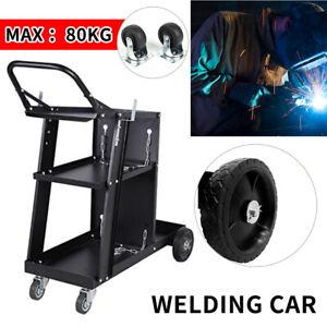 3 Tier Trolley Welding Cart With Handle Push Tool Cart Plasma Cutter WelderA YH