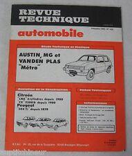 """Revue technique automobile RTA 428 1982 Austin MG et Vanden plas """"métro"""""""