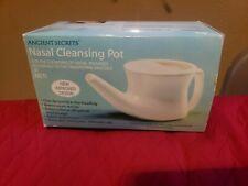 Ancient Secrets Nasal Cleansing Neti Pot Original Model Sturdy Ceramic