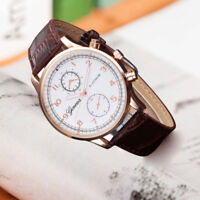 Fashion Womens Retro Design Leather Band Analog Alloy Quartz Wrist Watch
