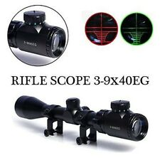 Hunting Airsoft 3-9x40EG Rifle Scope with Red Green Illuminated Reticle Sights
